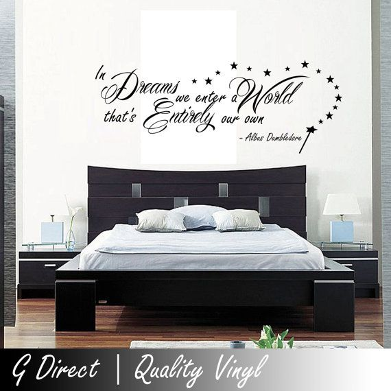 Harry Potter In Dreams we enter Dumbledore Wall Sticker Vinyl Quote for Bedroom Inspirational on Etsy, $26.47