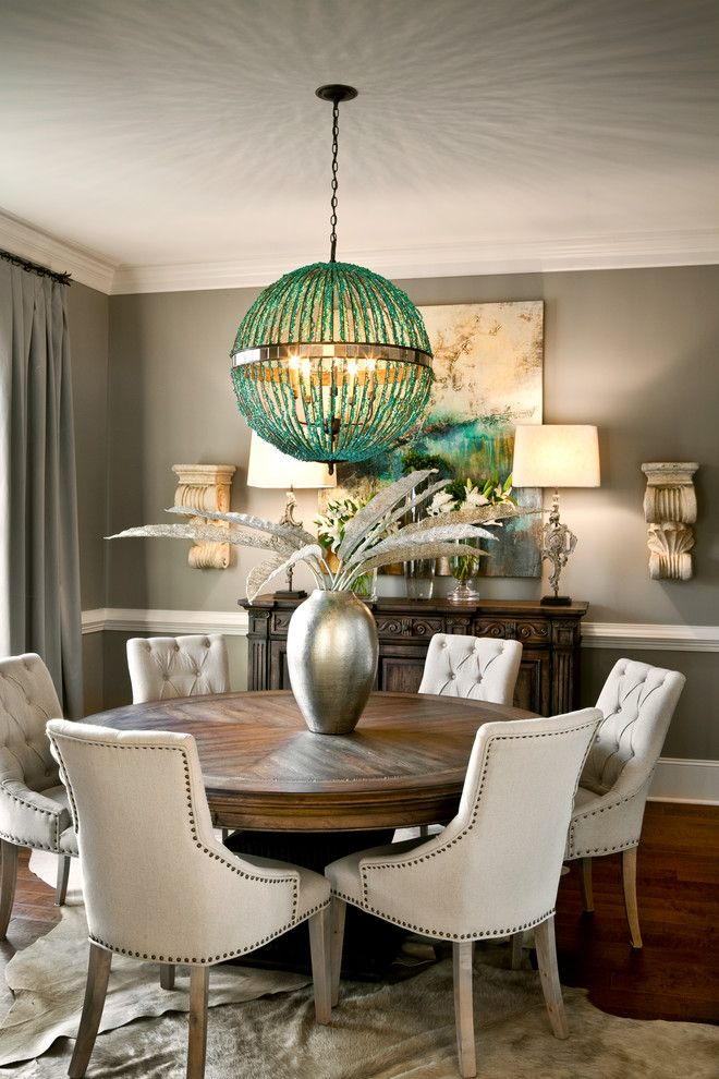 Get Stylin With Pantones Top 6 Trending Colors For 2014 Transitional Dining RoomsTransitional DecorRound TablesBlack
