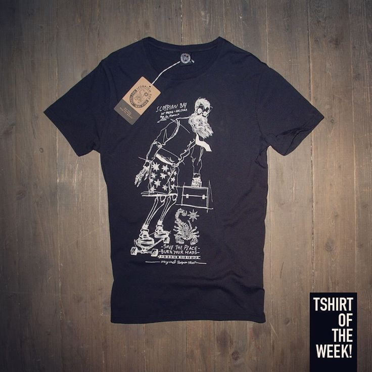"Stampa ""Less Work More Skate"" per la #TshirtOfTheWeekDiOggi! Acquistala subito >> http://www.scorpionbay.com/it/store/uomo/t_shirt-e-polo/t_shirt-94433"