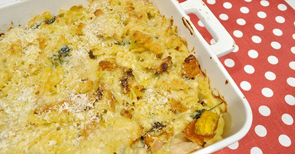 This pasta bake is a delicious way to use up some left over Christmas turkey meat.  A creamy and very flavoursome roast pumpkin,…