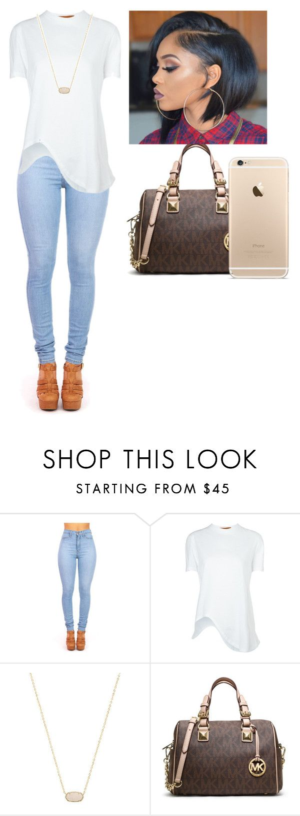 """Untitled #62"" by raven-domination ❤ liked on Polyvore featuring Coperni Femme, Kendra Scott, MICHAEL Michael Kors, men's fashion and menswear"