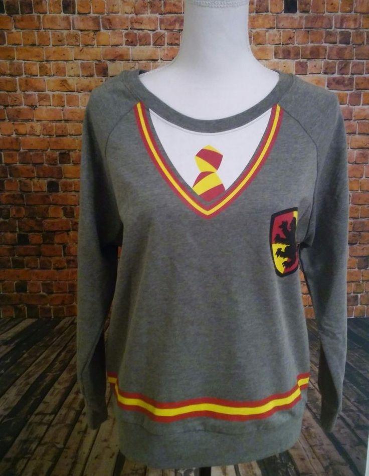 NEW Harry Potter Juniors L (11/13)  Long Sleeve Gryffindor pullover shirt unisex #HarryPotter #GraphicTee