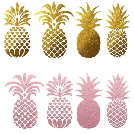 Pineapple glitter. Clip art pineapples clipart