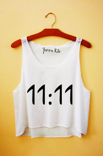 11:11 Crop Tank Top - Yotta Kilo                                                                                                                                                                                 More