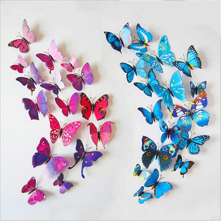 pas cher vinyle 3d bleu papillons pour art sticker amovible dcoration de la maison diy beau - Decoration De Maison Pdf