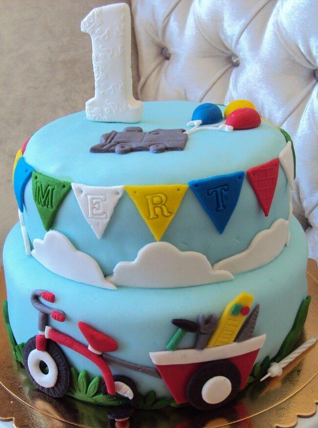 Birthday cake, boutique cake, butik pasta, şeker hamuru pasta