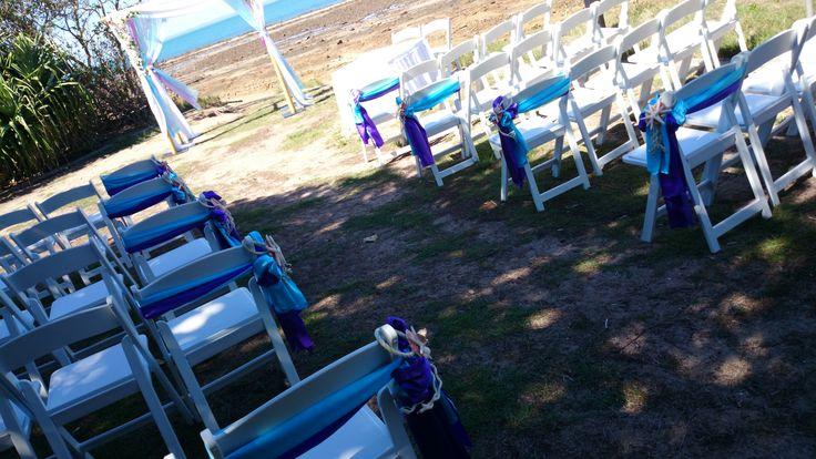 Foreshore wedding with a blue and purple theme. #beachwedding #starfish #blue #wow #wonderful www.astylishcelebration.com.au