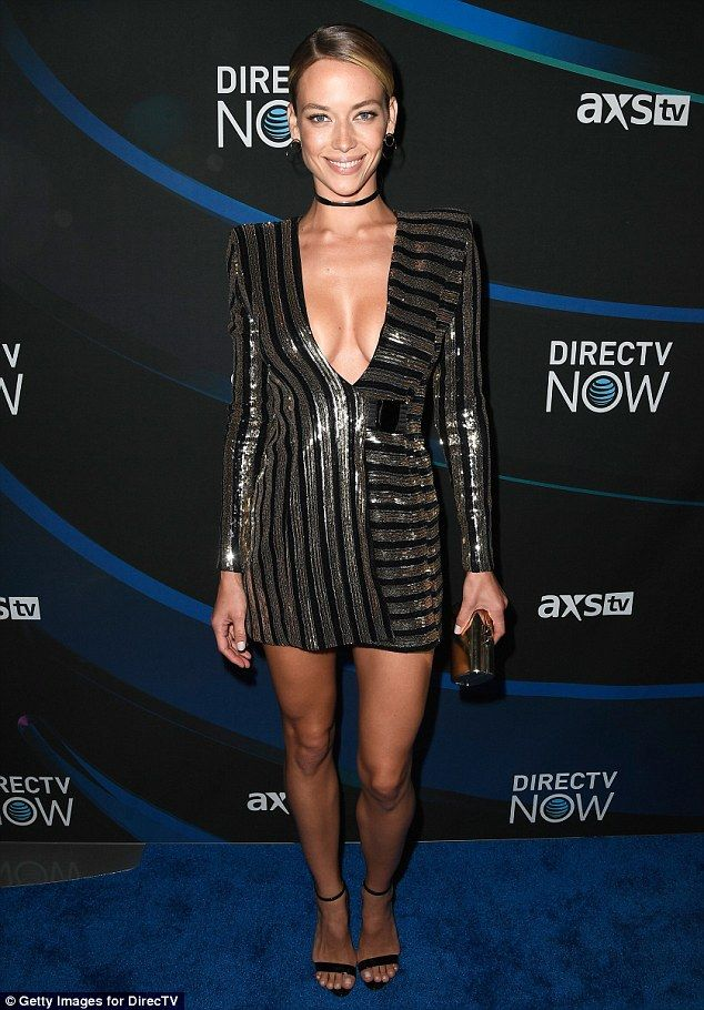 Bodacious bodies! On Saturday, Hannah Ferguson (pictured) and Hailey Clauson were flaunting their amazing figures together again at the DirecTV pre-Super Bowl party