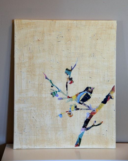 So cute!  Except does putting bird paintings in the apartment make me seem like an old lady?