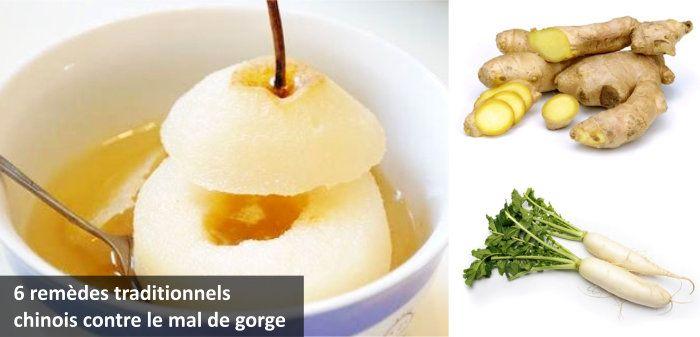 6 remèdes traditionnels chinois contre le mal de gorge, la toux et le froid