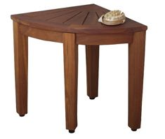 """Buy 15.5"""" Teak Shower Bench - From the Corner Collection  At Amazon.com"""
