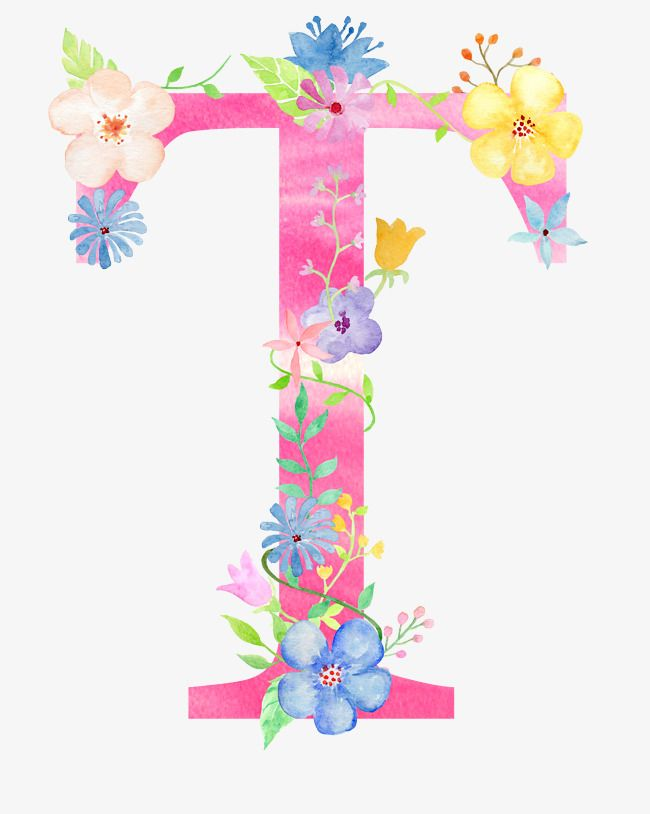 Flowers Letter T Letter Flower T Png Transparent Clipart Image And Psd File For Free Download T Wallpaper Floral Watercolor Flower Letters
