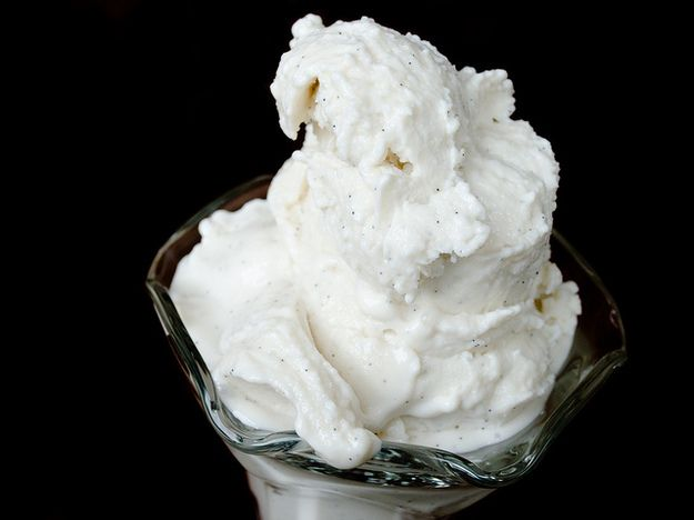Let your ice cream thaw to the point of melting before serving; the gelatin will keep it from turning into soup.