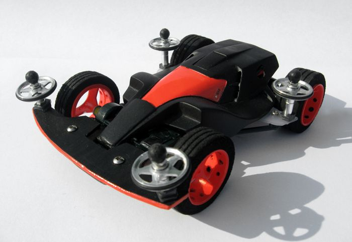 Dash 001 Great Emperor Black Special restored by Aran (street version) | Mini 4WD | #Mini4WD | #Tamiya