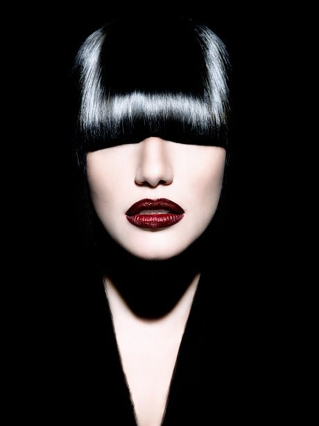 Black Beauty: Red Lipsticks, Beauty Fashion Make Up, Black Most, Black Beauty, Dark Beauty, Creative Hairs, Fashion In Black O' So Gorge, Creative N, Bangin Bangs