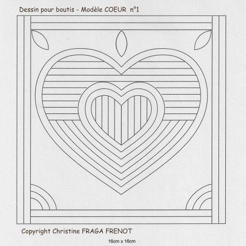 Motif coeur gratuit. Pour utiliser les autres motifs de Christine Fraga Frenot il est essentiel d'avoir l'autorisation de l'auteure.