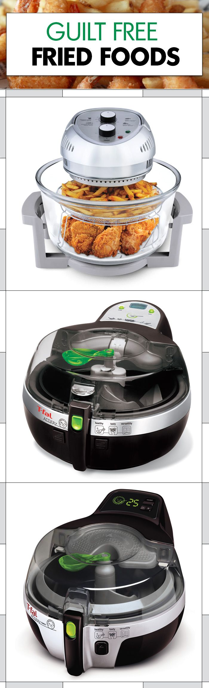 Eat #healthy without depriving yourself of the foods you really want! An Oil-Less Fryer helps eliminate unnecessary oil (and guilt) from your favourite fried foods. and we sell right in our store!!!!