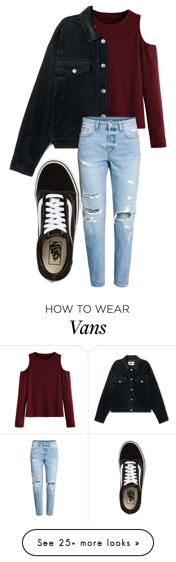 """""""Untitled... 272"""" by badgalxo on Polyvore featuring Vans and H&M"""