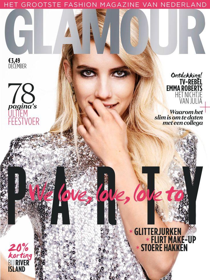 Opzoek naar dé look voor de feestdagen? De nieuwe Glamour staat vol met feestinspiratie: feestjurken, hoge hakken, stoere pakken, sieraden, nagellak. #tijdschriftnl #glamour #fashion #party