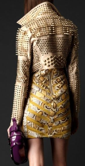 burberry studded cropped jacket
