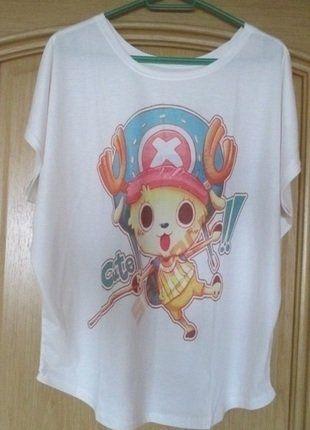 Kup mój przedmiot na #vintedpl http://www.vinted.pl/damska-odziez/koszulki-z-krotkim-rekawem-t-shirty/15927730-nowa-koszulta-t-shirt-over-size-chopper-one-piece-anime