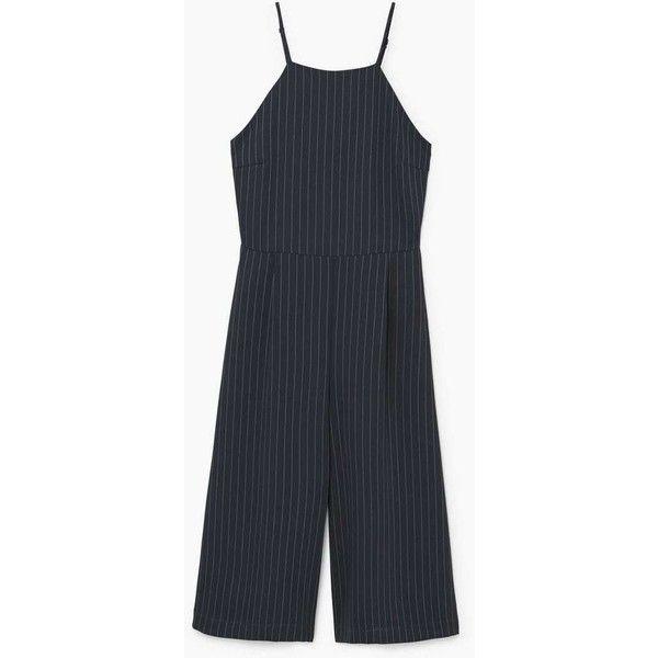 Striped Jumpsuit (1 120 UAH) via Polyvore featuring jumpsuits, mango jumpsuit, striped jumpsuit, jump suit и pinstripe jumpsuit