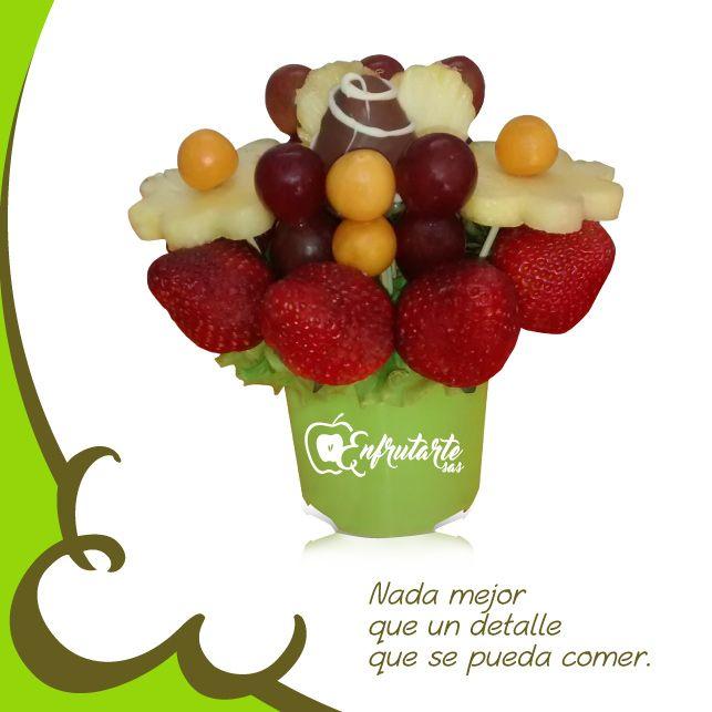 """Obsequia algo original...¡de buen gusto!  En #Enfrutarte te ofrecemos esta deliciosa opción: el #arreglofrutal """"Osito Marrón"""".  Cae en la tentación y visita nuestra página web www.enfrutarte.com #mujer #regalos #frutas #Cúcuta #Colombia"""