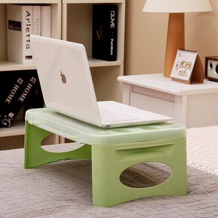 2016 Real Rushed Bed And Computer Desk / Mini Coffee Table Storage Plastic Fold Tables with A Small Notebook Car Learning Lazy