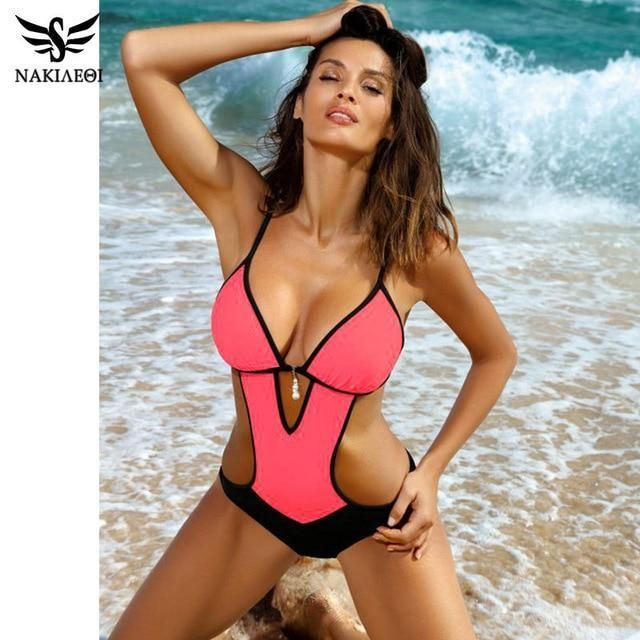 NAKIAEOI Sexy Tanga Badeanzug 2019 Plus Size Bademode Frauen Badeanzug Badebekle…