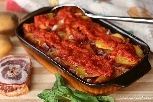 Pasta e patate al forno,Oggi cucina nonna Virginia