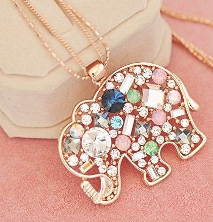 Elephant gold colored chain and pendant. Elephant for special occasion and moments with friends and family.
