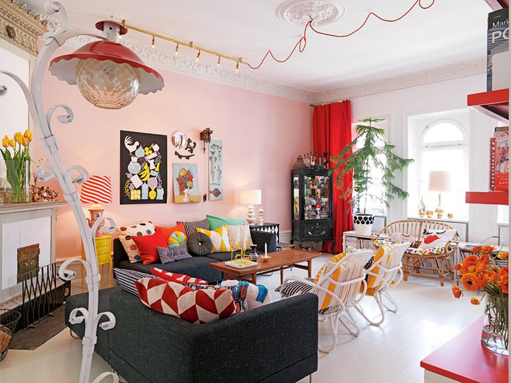 Pink Living Room · Living SpacesFunky Living RoomsLiving Room IdeasLiving  ... Part 34