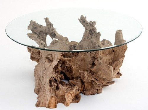 Driftwood Coffee Table by Woodland Creek Furniture: Driftwood Coff, Woodland Creek, Wood Furniture, Coff Tables, Natural Wood, Contemporary Coffee Tables, Driftwood Tables, Rustic Wood, Creek Furniture