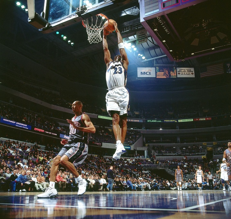 "40 at 40 - Jordan was the oldest scoring champion in NBA history, and on Feb. 21, 2002, he became the first 40-year-old to score 40 points in an NBA game. He scored 43 points in 43 minutes of an 89-86 victory over the Nets. ""I don't feel like 40,"" he said after the game. ""I feel I can compete, and on certain nights I can compete with the best."""