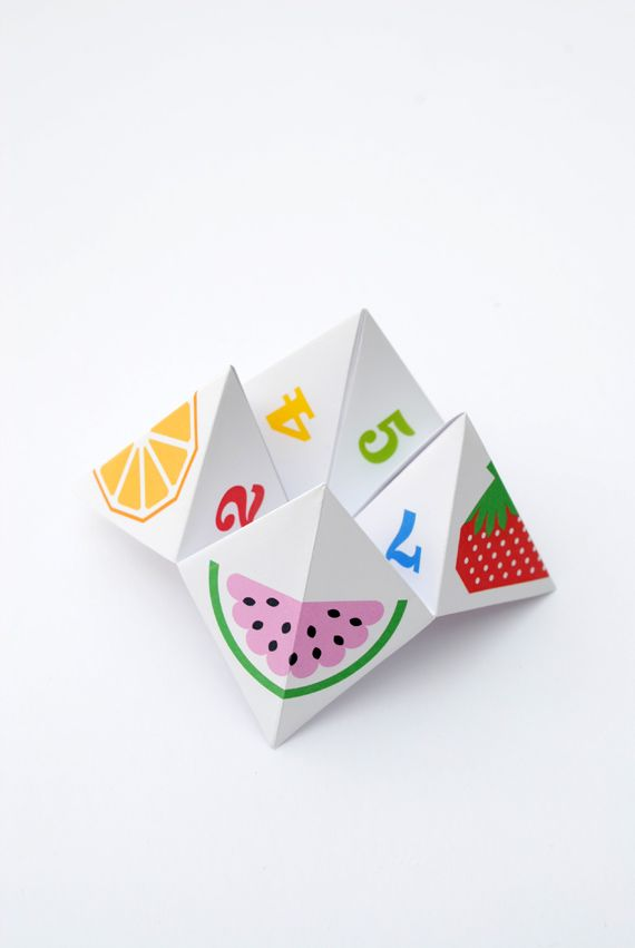 fortune teller instructions paper folding