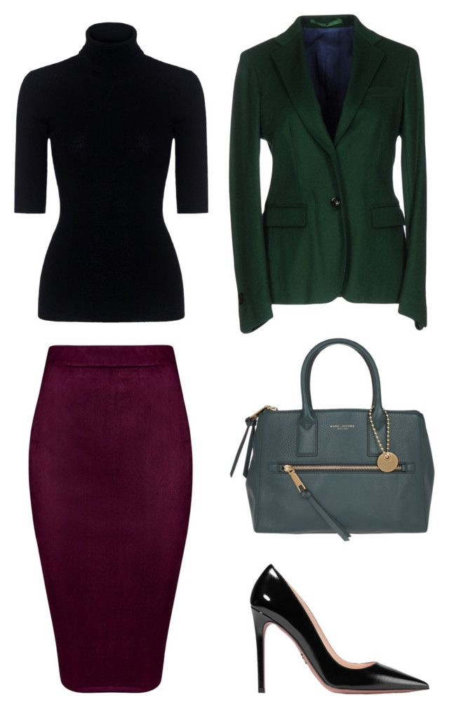 """Marina: office"" by kseniakul ❤ liked on Polyvore featuring Mauro Grifoni, Theory, Marc Jacobs, Prada, WorkWear, outfit, WhatToWear and pencilskirt"