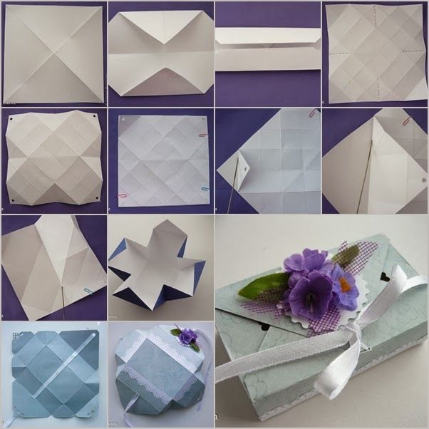 DIY : Origami Gift Box Without Glue