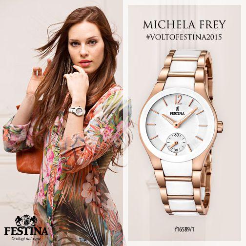 Bellissima, Michela Frey è la testimonial che interpreta gli orologi donna Festina! #voltofestina2015