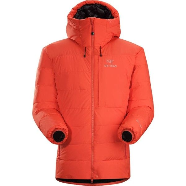 Arc'teryx Ceres Down Parka ($849) ❤ liked on Polyvore featuring men's fashion, men's clothing, men's outerwear, mens parka, mens sports apparel, mens puffer parka, men's apparel and mens clothing
