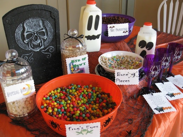 Halloween breakfast buffet #Halloween
