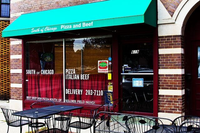 South of Chicago Pizza and Beef, Indianapolis. Awesome thin crust, deep dish pizzas and italian beef sandwiches! I have to try it .