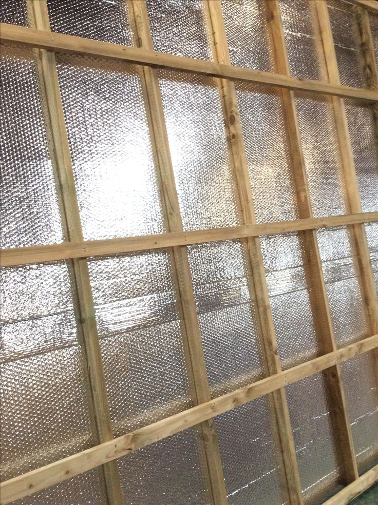 Foil floor insulation as standard on all our garden offices