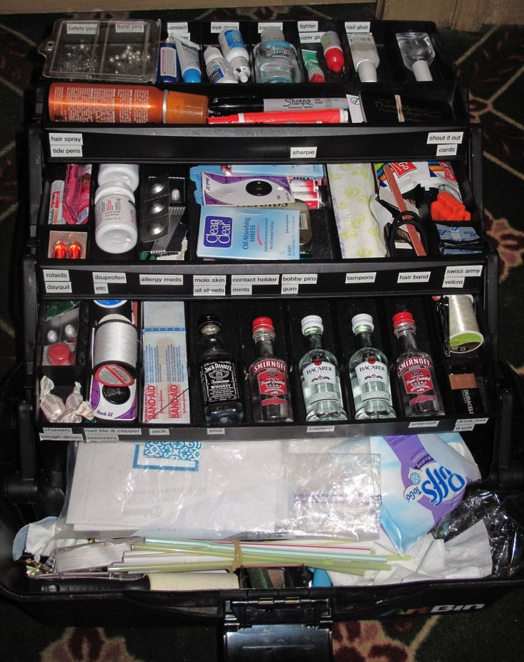 Wedding Emergency Kit- Tackle Box. You'll be the best Maid of Honor ever with this kit!