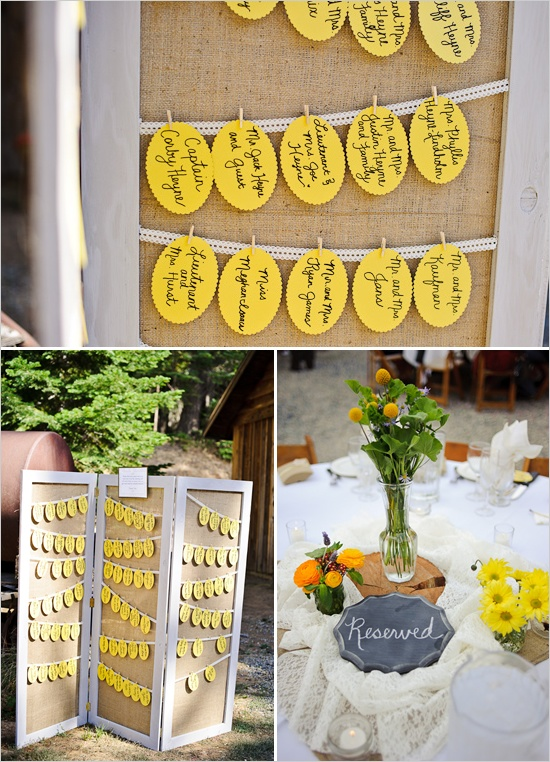 Option for escort card display!