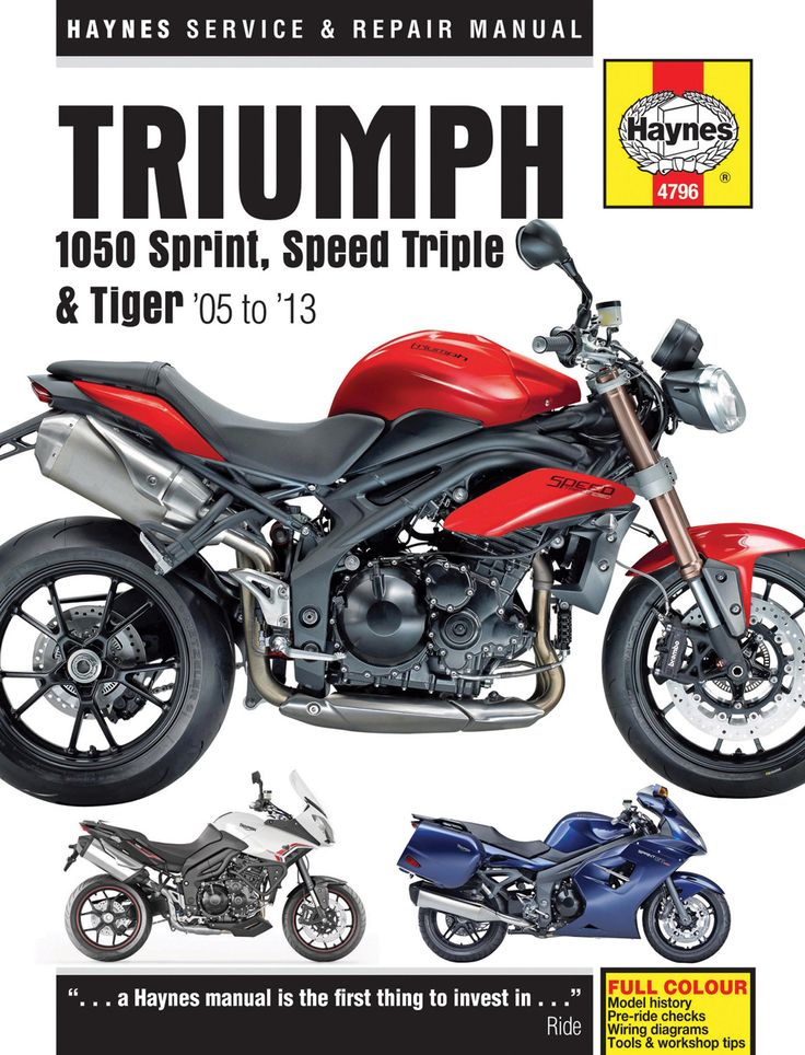Haynes M4796 Repair Manual for 2005-13 Triumph 1050 Sprint St., Speed Triple, and Tiger