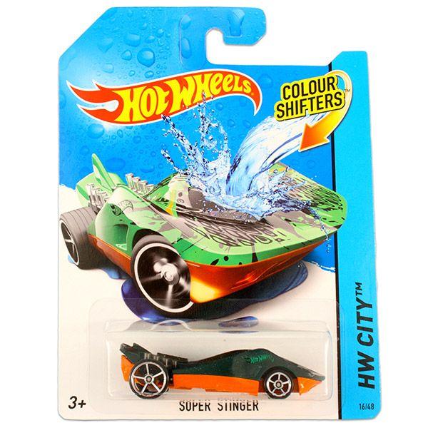 Hot Wheels City: színváltós Super Stinger kisautó