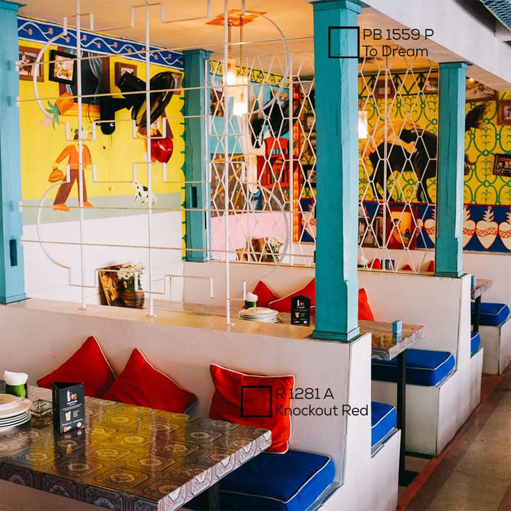 Biru dan merah dipercaya dapat memberi sensasi kesejukan yang membuat orang merasa betah dan nyaman. Pilihan tepat untuk berkumpul bersama keluarga.  #ImajinasiTanpaKompromi #NipponPaintIndonesia #Paint #Wall #Home #Colour #Palette