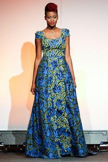 Ankara dress fashion show