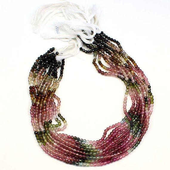 2,5 mm Multi Turmalin glatten runden Perlen, Multi Turmalin Perlen AAA Edelsteine, Multi Turmalin glatte Runde Perlen 14 Zoll = 35,56 cm  , Großhandelspreis