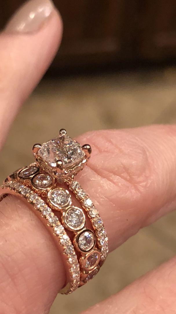 14k Rose Gold Petite Pave Crown Diamond Engagement Ring Crown Engagement Ring Vintage Engagement Rings Unique Engagement Rings